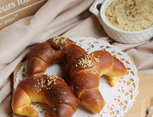 綠色山丘諾曼地、無鹽發酵奶油~牛角麵包初體驗、萬用奶油味噌蒜味醬做法